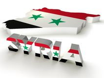 País de Síria 3d foto de stock