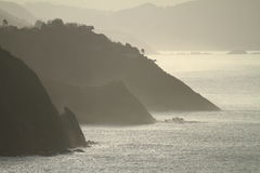 País del basque de los acantilados Foto de archivo