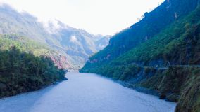 País del bosque de Nepal fotografía de archivo