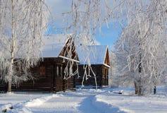 País del ruso del invierno Foto de archivo libre de regalías