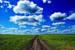 País do curso da paisagem da estrada Imagens de Stock