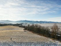 País do inverno de um zangão fotografia de stock