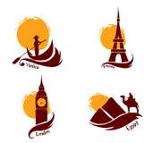 País e turismo ilustração royalty free