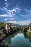 País en el río Imagen de archivo