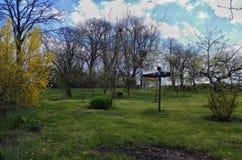 País en primavera Imagen de archivo libre de regalías