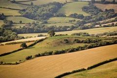 País escénico del campo de Devon fotos de archivo