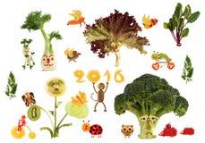 País fabuloso de la comida de la dieta, hecho de frutas y verduras Fotografía de archivo