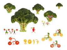 País fabuloso do esporte, feito das frutas e legumes Fotografia de Stock Royalty Free