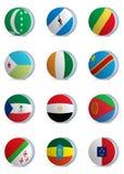 País flags-africa1 Imagenes de archivo