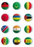 País flags-africa3 Fotografía de archivo libre de regalías