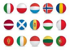 País flags-EUROPE1 Imagenes de archivo