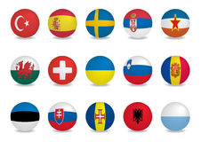 País flags-EUROPE2 stock de ilustración
