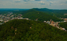 País Ozark Mountains do monte do estado do verde de Arkansas da mola quente Fotografia de Stock Royalty Free