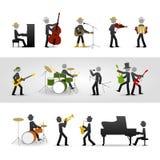 País, rocha e banda de jazz ilustração do vetor