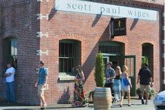 País vinícola de Carlton City In Yamhill County fotos de archivo libres de regalías