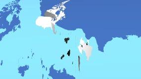 Países americanos ilustração do vetor