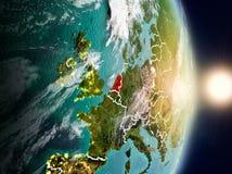 Países Baixos durante o nascer do sol fotografia de stock