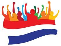 Países Bajos avientan la ilustración Fotografía de archivo libre de regalías