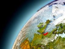 Países Bajos de la órbita de Earth modelo Imagen de archivo libre de regalías