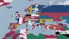 Países da África 3D Mapa com Fronteiras e Sinalizadores ilustração stock