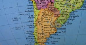 Países de Ámérica do Sul no globo video estoque