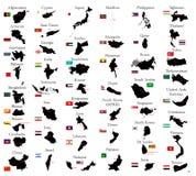 Países de Asia Imagen de archivo libre de regalías