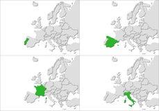 Países de Europa Imagen de archivo