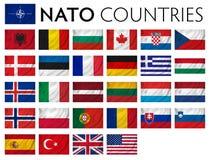 Países del memebr de la OTAN libre illustration