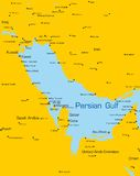 Países do Golfo Pérsico Imagem de Stock Royalty Free