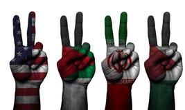 Países do símbolo 4 da mão da paz imagem de stock