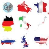 Países G8 Foto de archivo libre de regalías