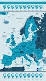 Países y candidatos de comunidad de la unión europea en el poli de Europa stock de ilustración