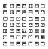 Pañerías de ventana, guardamalletas, cortinas Elementos del diseño interior libre illustration