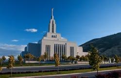 Pañero Utah, templo de LDS Fotografía de archivo libre de regalías
