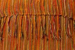 Paño anaranjado, textura Imagen de archivo libre de regalías