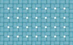 Paño azul azul claro blanco fino de las ventanas de aberturas de la pared de los registros de madera de mimbre abstractos del fon imagen de archivo libre de regalías