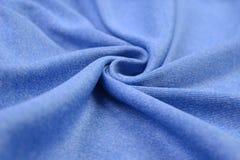 Paño azul claro hecho por la fibra del algodón Foto de archivo libre de regalías