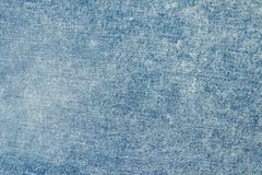 Paño azul del dril de algodón Cierre para arriba Fotografía de archivo libre de regalías