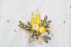 Paño de la Navidad Fotos de archivo