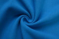 Paño de los azules marinos hecho por la fibra del algodón Foto de archivo libre de regalías