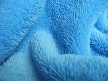 Paño de terry azul de la toalla Foto de archivo libre de regalías
