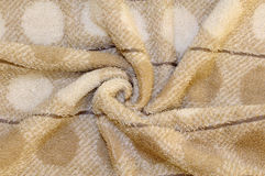 Paño de terry de la toalla de Brown Fotografía de archivo