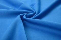 Paño del azul de cielo hecho por la fibra del algodón Fotografía de archivo