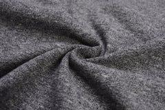 Paño gris oscuro hecho por la fibra del algodón Imágenes de archivo libres de regalías