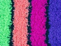 Paño grueso y suave magenta y azul rosado verde Fotografía de archivo libre de regalías