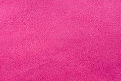 Paño grueso y suave rosado Fotografía de archivo libre de regalías