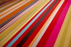 Paño/manta modelados alineados coloridos de Muti fotos de archivo libres de regalías