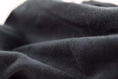 Paño negro Fotografía de archivo libre de regalías