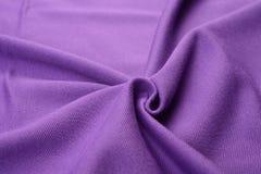 Paño púrpura hecho por la fibra del algodón Imagen de archivo libre de regalías