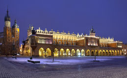 Paño Pasillo - Rynek Glowny - Kraków - Polonia foto de archivo libre de regalías